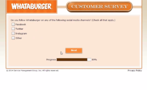 whataburger surveys